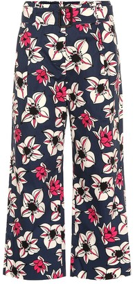 S Max Mara Solista floral cropped wide-leg pants