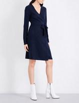 Diane von Furstenberg Wrap-over cashmere dress