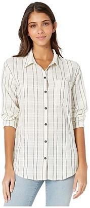 Sanctuary Keeper's Boyfriend Shirt (New Lens Stripe) Women's Clothing