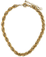 Miriam Haskell Chain & Pearl Necklace