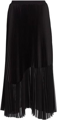 Fabiana Filippi Pleated Chiffon & Satin Midi Skirt