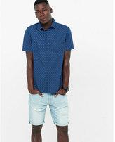 Express short sleeve horseshoe print shirt