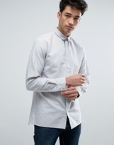 Jack and Jones Core Long Sleeve Slim Fit Oxford Shirt