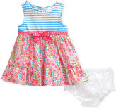 Sweet Heart Rose Stripes and Floral-Print Dress, Baby Girls (0-24 months)