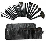 eBoTrade 32 Pcs Professional Cosmetic Makeup Brush Set Kit with Synthetic Leather Case,Black