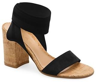 Gianvito Rossi Elastic-Strap Cork-Heel Sandals