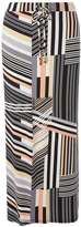 Petite Coral Stripe Maxi Skirt