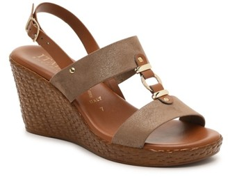 Italian Shoemakers Pusha Wedge Sandal