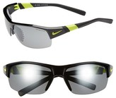 Nike Men's 'Show X2' Semi Rimless 69Mm Sunglasses - Black/ Voltage