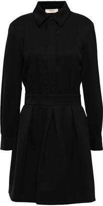 BA&SH Taran Wool-blend Twill Mini Dress