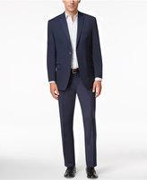 Andrew Marc Men's Classic Fit Navy Mini-Stripe Suit