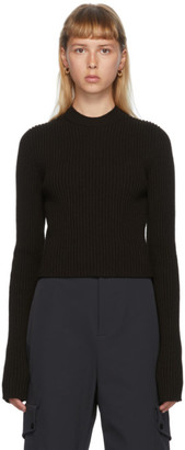 Bottega Veneta Brown Rib Crewneck Sweater