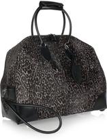 Alaia Animal-print calf hair travel bag