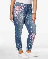 Melissa McCarthy Trendy Plus Size Paint-Splatter Jeans
