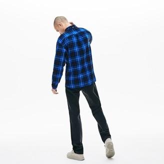 Lacoste Men's LIVE Boxy Fit Check Flannel Shirt