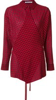 Alexander Wang checked wrap-style shirt - women - Cotton/Viscose/Virgin Wool - M