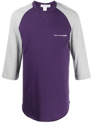 Comme des Garçons Shirt colour block T-shirt