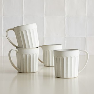 west elm Curated Stoneware Scalloped Mug