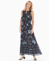 Adrianna Papell Keyhole Maxi Dress Black Multi