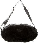 Rochas Fur-Trimmed Handle Bag