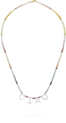 Roxanne First Ciao rainbow-sapphire necklace