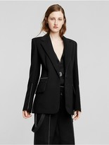 Calvin Klein Collection Technical Scuba Single Breasted Suit Jacket