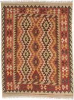 Ecarpetgallery eCarpet Gallery 191954 Hand-Woven Anatolian Kilim Geometric 4' x 6' 100% Wool Area Rug