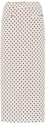 REJINA PYO Mina polka-dot printed midi skirt