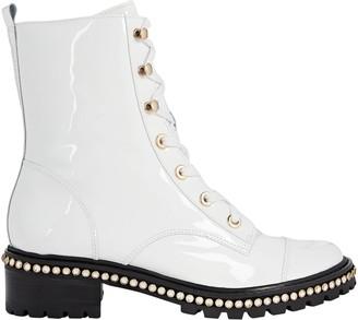 Schutz S-Andorra Patent Leather Combat Boots