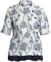 Chloé Floral Embroidered Organza Blouse
