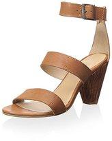 J Shoes Women's Edith Wood Block Heel Sandal with Tassel Detail