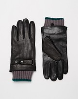 Ted Baker Leather Gloves - Black