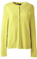 Classic Women's Petite Cashmere Cardigan Sweater-Deep Scarlet