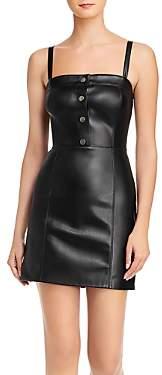 BB Dakota Nice Cool Faux Leather Mini Dress