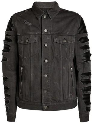 Balmain Ribbed Denim Jacket