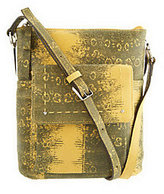 B. Makowsky Leather Zip Top Crossbody Bag
