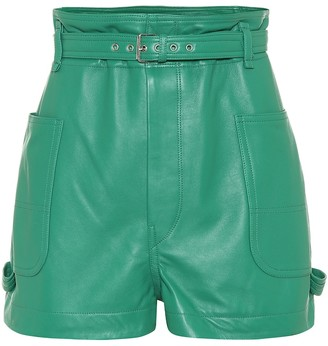 Isabel Marant Xike leather shorts