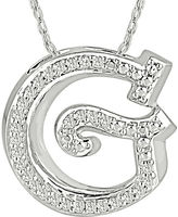 FINE JEWELRY 1/7 CT. T.W. Diamond Sterling Silver Initial G Pendant Necklace