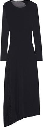 Stella McCartney Asymmetric Burnout-effect Stretch-knit Midi Dress