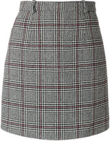Carven check mini skirt - women - Polyamide/Acetate/Viscose/other fibers - 38