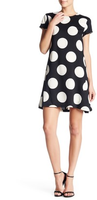 Donna Morgan Short Sleeve Dotted Trapeze Dress