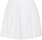 McQ by Alexander McQueen Perforated cotton-poplin mini skirt