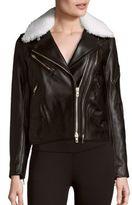 Rag & Bone Minerva Leather & Shearling Moto Jacket