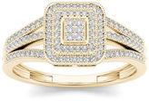 MODERN BRIDE 1/6 CT. T.W. Diamond 10K Yellow Gold Engagement Ring