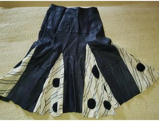 Antonio Marras Black Leather Skirt for Women