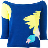 DELPOZO abstract pattern jumper - women - Cotton - M