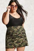 Forever 21 Plus Size Camo Print Mini Skirt