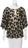 Trina Turk Silk Patterned Top