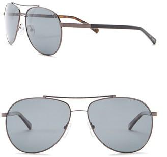 Ted Baker Aviator 57mm Metal Frame Sunglasses