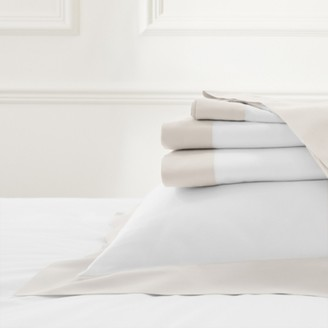 The White Company Camborne Flat Sheet, Oyster, Double